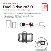 Packaging artwork for the SanDisk Ultra Dual Drive m3.0. Includes high-res and low-res images of sides, front and back of package.